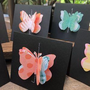 Itty Bitty Bobbin Office - Mini Blank Note Cards-Paradise Crush Color Scheme